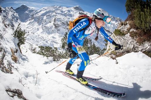 Scialpinismo Alpago - Piancavallo 2017:Doppietta azzurra tra gli junior con Davide Magnini e Giulia Murada.