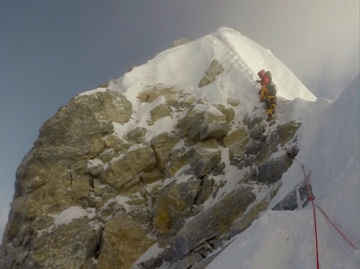 Everest Hillary Step collapsed