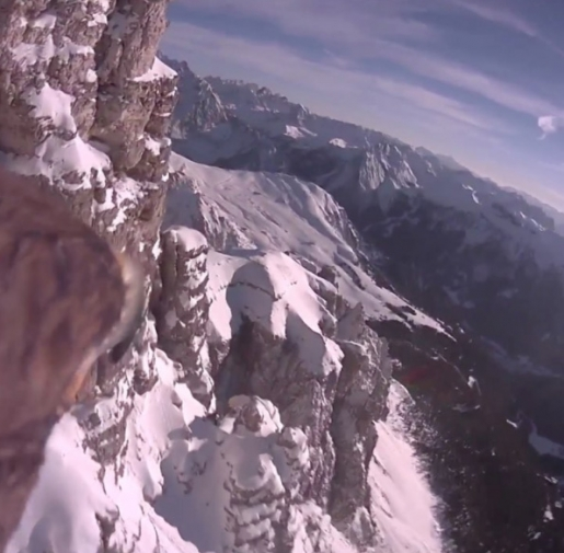 Bird's-eye view of the Dolomites