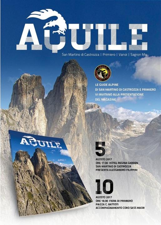 Aquile, la rivista delle Guide Alpine di San Martino di Castrozza e Primiero festeggia 5 anni