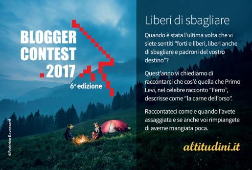 Blogger Contest 2017: Liberi di sbagliare