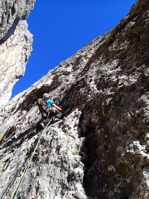 Pale di San Lucano, nuova via d'arrampicata in Dolomiti per Santiago Padros e Luca Vallata