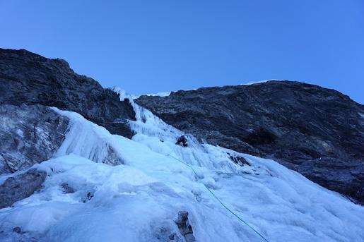 Gnadenlos, difficile e pericolosa nuova cascata di ghiaccio sull'Ortles