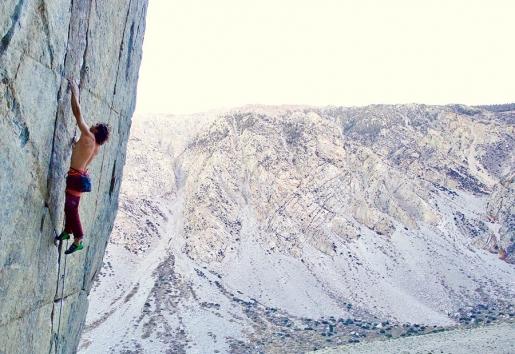 Chris Sharma climbing at Yosemite and Bishop