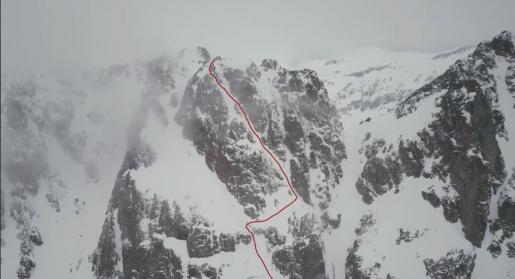 Perrons de Vallorcine new ski descent by Bruchez, Felisaz, Guerin
