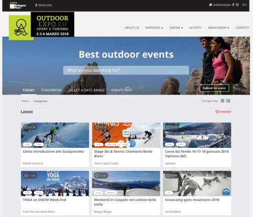 Outdoor Expo Bologna e Evensi per il primo calendario outdoor