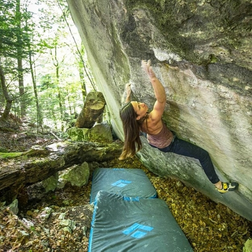 Katrin Lehmann boulders Kryptos, only second woman to send 8C