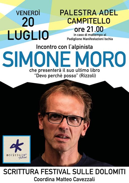 Simone Moro: venerdì a Campitello di Fassa per Scrittura Festival sulle Dolomiti