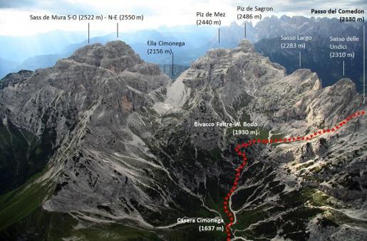 Al Passo del Comedón in Dolomiti un abbraccio simbolico