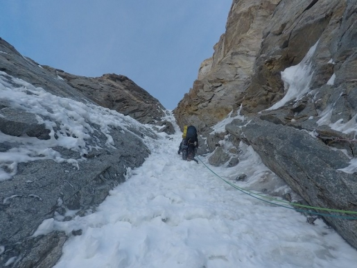 Grande Jorasses Japanese Couloir / Spaniards make rare repeat of central gem
