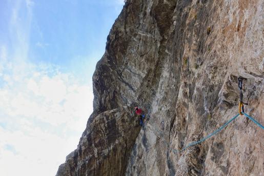 Arco rock climbing: Mescalito on Colodri, the classic multi pitch climb by Renato Bernard and Renzo Vettori