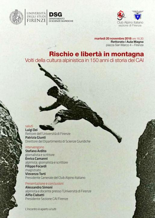 Rischio e libertà in montagna, a Firenze il convegno sulla cultura alpinistica in 150 anni del CAI