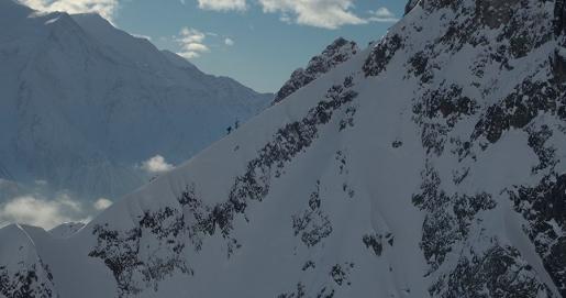 Aiguille de la Glière, south ridge ski & snowboard descent by Yannick Boissenot, Julien Herry