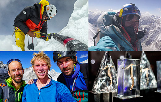 Hansjörg Auer, David Lama, Aleš Česen, Tom Livingstone, Luka Stražar ascents honoured by Piolets d'Or 2019