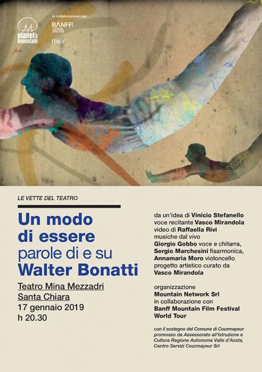 Walter Bonatti: a Brescia lo spettacolo Un modo di essere. Parole di e su Walter Bonatti