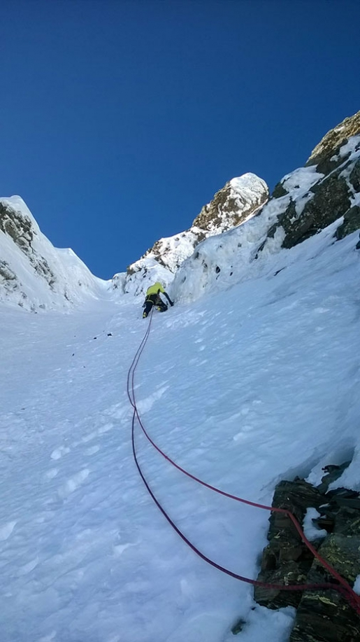 New mixed climb up Pizzo Porola in BergamoAlps