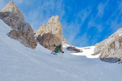 New ski descent in Brenta Dolomites on Pietra Grande