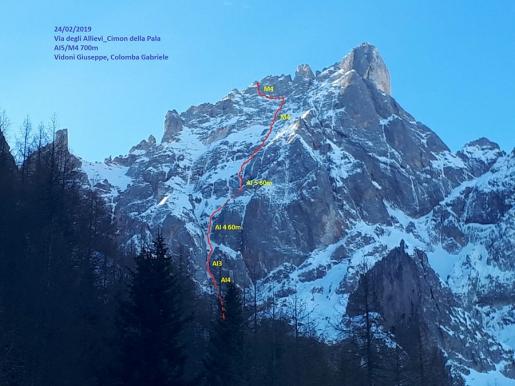 Cimon della Pala: Giuseppe Vidoni and Gabriele Colomba forge new mixed climb in Dolomites