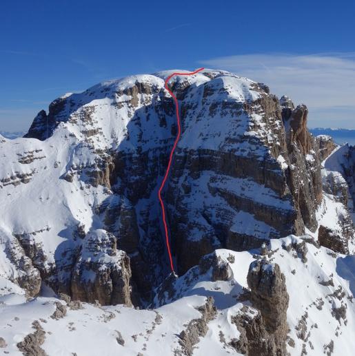 Brenta Dolomites steep skiing: descents off Cima Brenta and Cima del Vallon