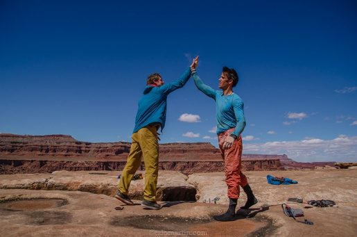 Gruelling Canyonlands crack climbed by Pete Whittaker, Tom Randall