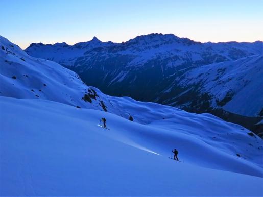 Piz Morteratsch in Switzerland, East Face ski descent by Costa, Terraneo, Varchetti