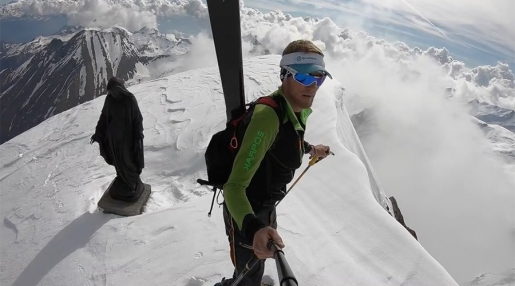 Denis Trento and his exceptional spring ski mountaineering in Valle d'Aosta