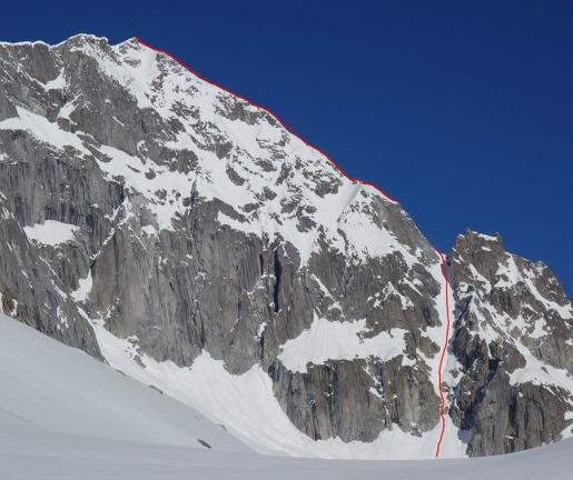 Presanella NE Ridge skied by Roberto and Luca Dallavalle
