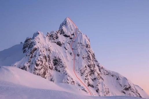 Christophe Henry, Juan Señoret ski Colmillo Del Diablo in Patagonia