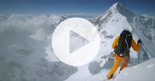 Lhotse Couloir, the 2018 first ski descent by Hilaree Nelson, Jim Morrison