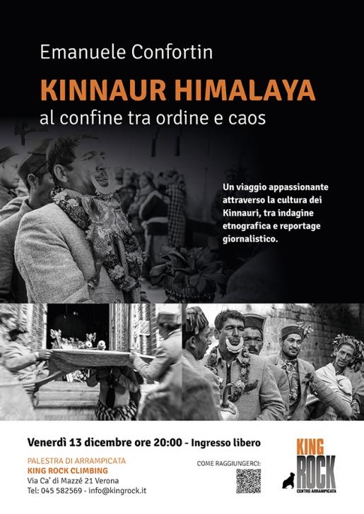 Emanuele Confortin al King Rock Verona con Kinnaur Himalaya - Confine tra ordine e caos