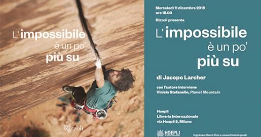 Jacopo Larcher a Milano con L'impossibile è un po' più su