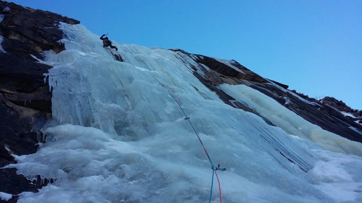Two new ice climbs in Valnontey by the Cogne Mountain Guides
