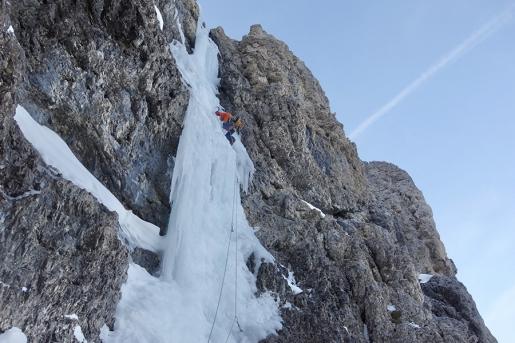 Via Kami(n)kaze sul Mur del Pisciadù, Dolomiti, di Simon Kehrer e Lukas Troi
