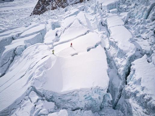 Simone Moro e Tamara Lunger, caduta in un crepaccio al Gasherbrum