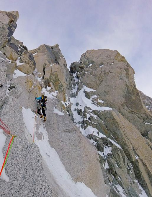 Monte Bianco: Denis Trento e Filip Babicz aprono Forza Gioele a Pointe de l'Androsace