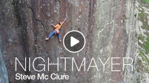 Steve McClure onsighting Nightmayer at Dinas Cromlech in Wales