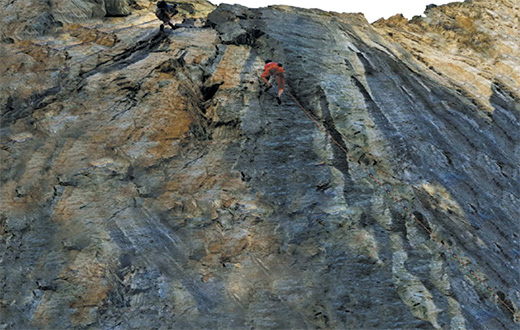 First ascent climbing contest at Barliard in Ollomont valley, Valle d'Aosta