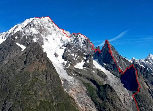 Filip Babicz in velocissima solitaria sull'Integralissima di Peuterey del Monte Bianco