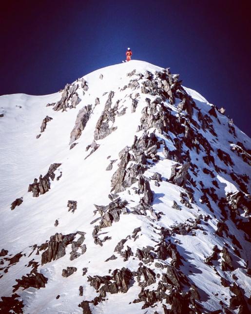 Paul Bonhomme skis new line down Mont Pélago in Mercantour massif, France