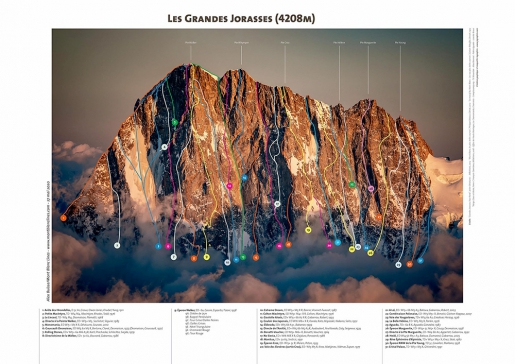 Alex Buisse and his Mont Blanc Lines climbing posters
