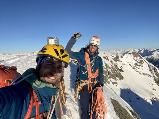 Virger Nordkette winter traverse completed by Vittorio Messini, Matthias Wurzer