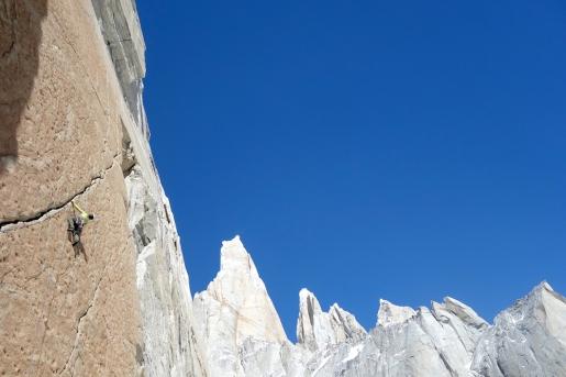 Seán Villanueva climbs two new routes on El Mocho in Patagonia