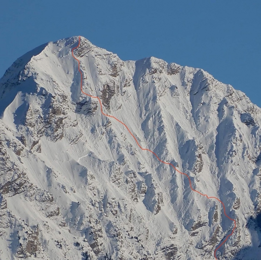 Paul Bonhomme makes first ski descent of Mont Pouzenc West Face