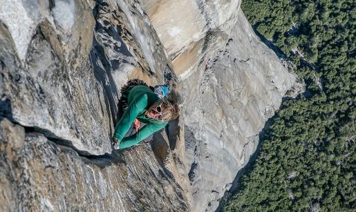 Brittany Goris free climbs Salathé Wall on El Capitan, Yosemite