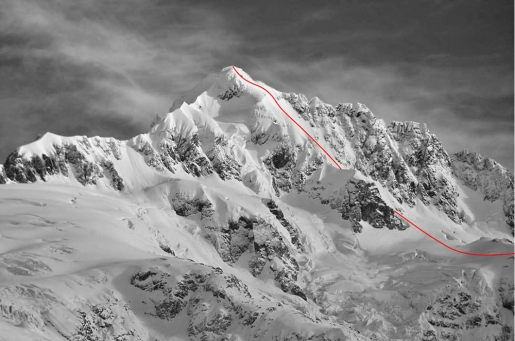Cerro Pinuer in Valle Exploradores, Patagonia first winter ascent and ski descent