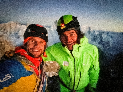 Petit Dru climbed by Simon Gietl, Roger Schäli as fifth north face in North6 project