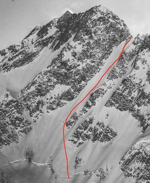 Cerro Lomo Larga, prima discesa della parete sud di Raimundo De Andraca, Antonio Eguiguren