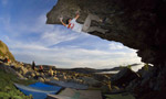 Bernd Zangerl bouldering in Norway with Northern Beats