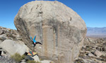 Verhoeven and Saurwein bouldering at the Buttermilks, Bishop