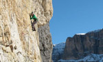 Non ci resta che piangere, first free ascent by the Riegler brothers